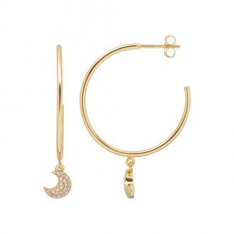 Aria Orecchini in argento 925‰ dorato con zirconi E15417GP 4 You Jewels