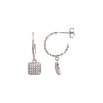 Aria Orecchini in argento 925‰ rodiato con zirconi E15410 4 You Jewels