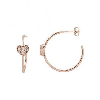 Aria Orecchini in argento 925‰ rosato con zirconi E15400PP 4 You Jewels