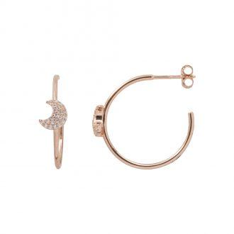 Aria Orecchini in argento 925‰ rosato con zirconi E15405PP 4 You Jewels