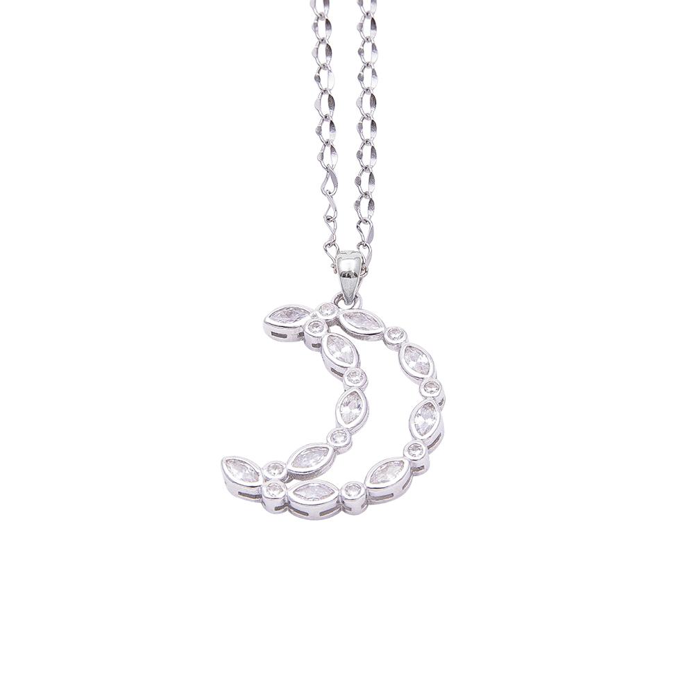 Margaret ciondolo in argento 925‰ rodiato e zirconi con catenina in acciaio inalterabile P08589 4 You Jewels