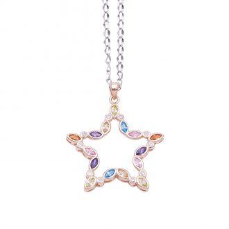 Margaret ciondolo in argento 925‰ rosato e zirconi con catenina in acciaio inalterabile P08588MP 4 You Jewels