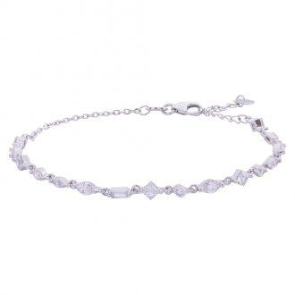 Savannah bracciale in argento 925‰ rodiato e zirconi B14253 4 You Jewels