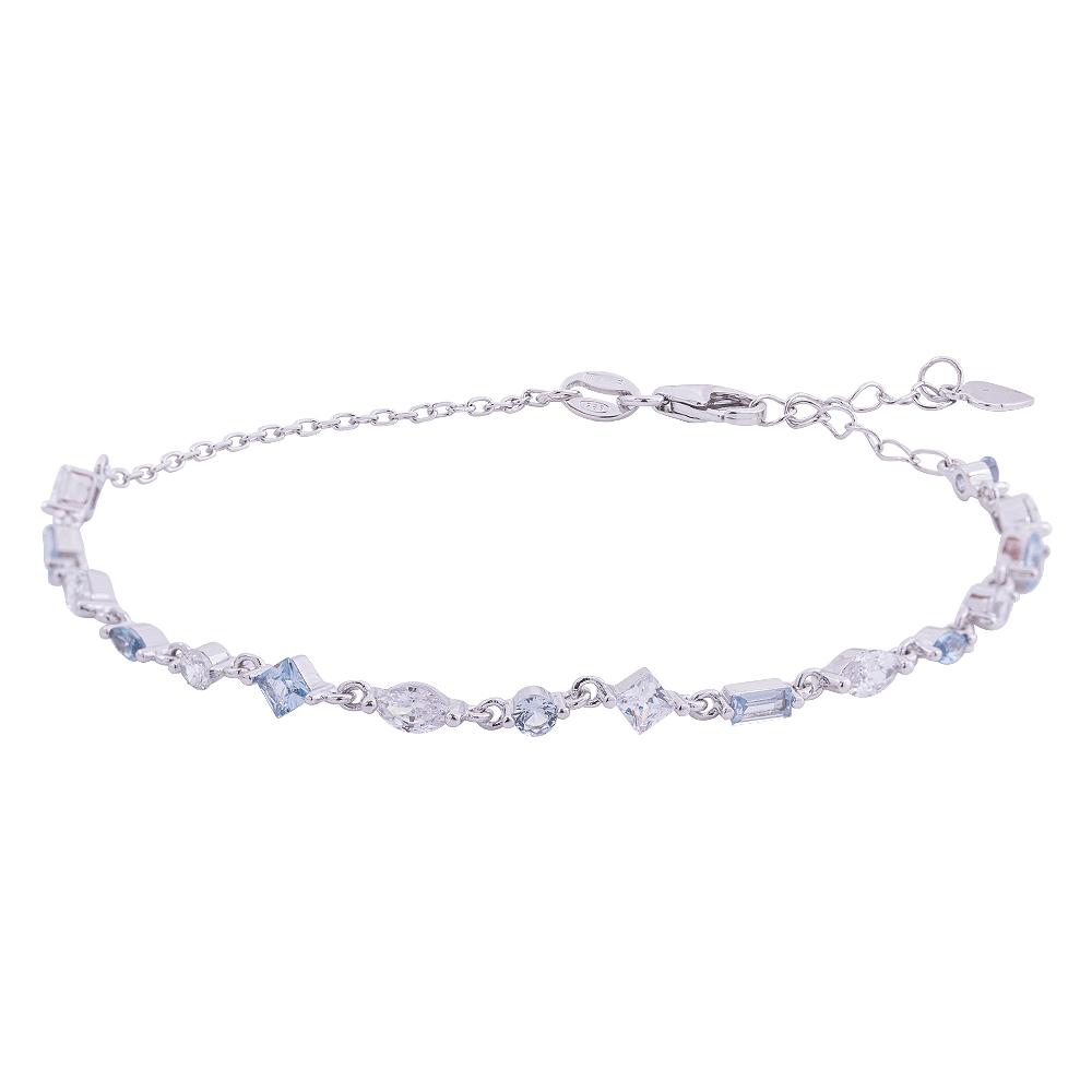 Savannah bracciale in argento 925‰ rodiato e zirconi B14253AQ 4 You Jewels