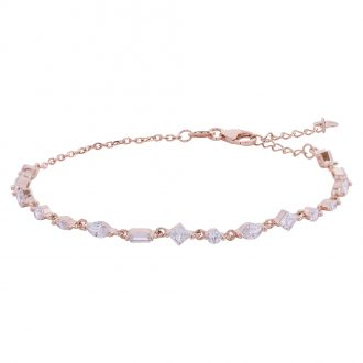 Savannah bracciale in argento 925‰ rosato e zirconi B14253PP 4 You Jewels