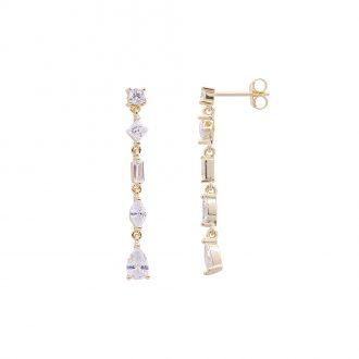 Savannah orecchini in argento 925‰ dorato e zirconi E14252GP 4 You Jewels