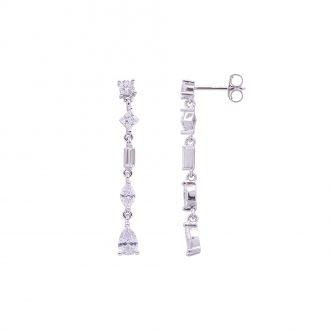 Savannah orecchini in argento 925‰ rodiato e zirconi E14252 4 You Jewels
