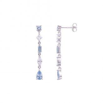 Savannah orecchini in argento 925‰ rodiato e zirconi E14252AQ 4 You Jewels