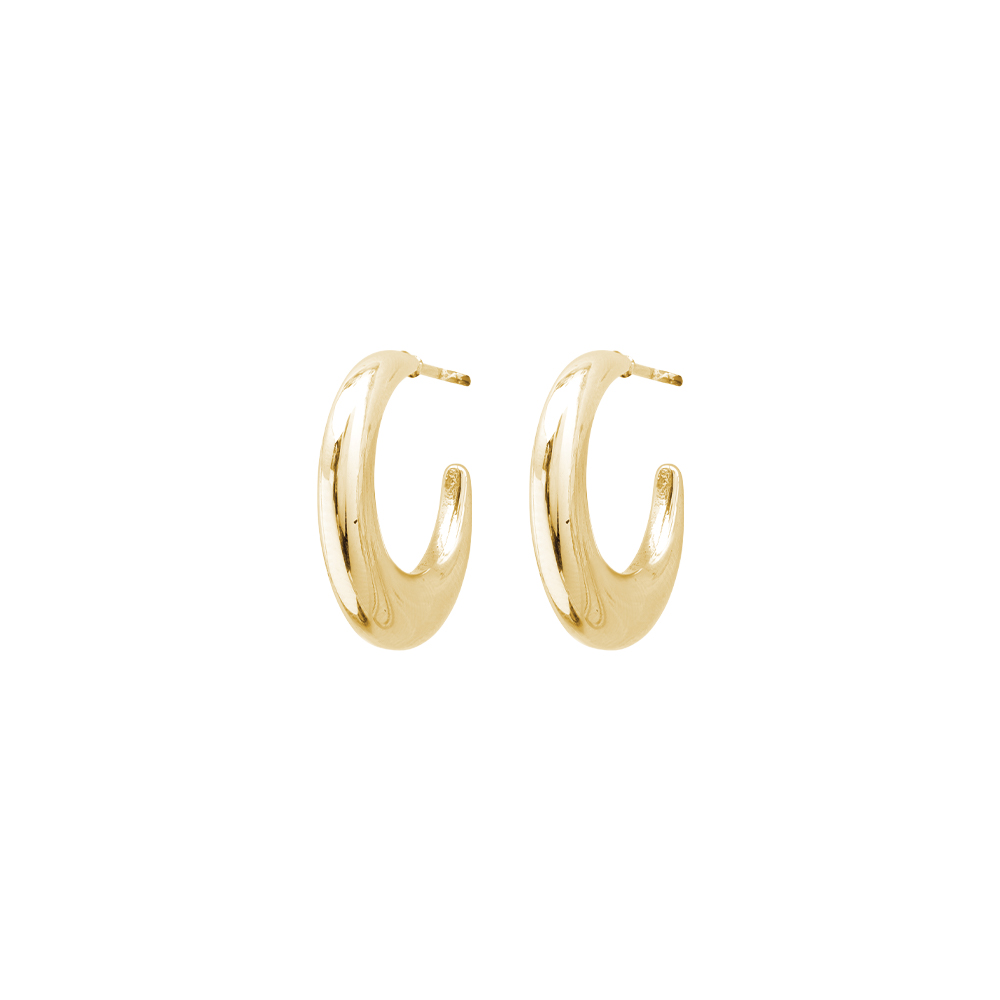 Afef orecchini in acciaio con IP oro E16015 For You Jewels