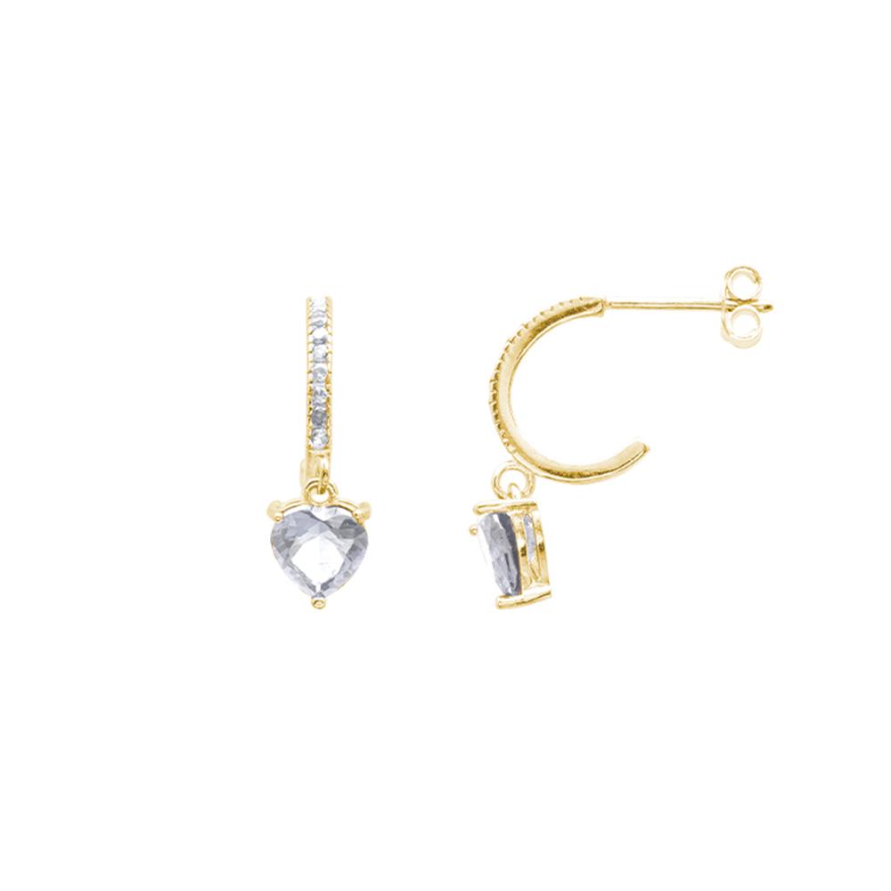 Alyx orecchini in argento 925‰ dorato e zirconi E12051GP For You Jewels