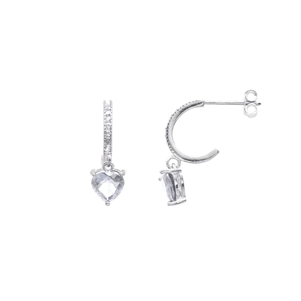 Alyx orecchini in argento 925‰ rodiato e zirconi E12051 For You Jewels