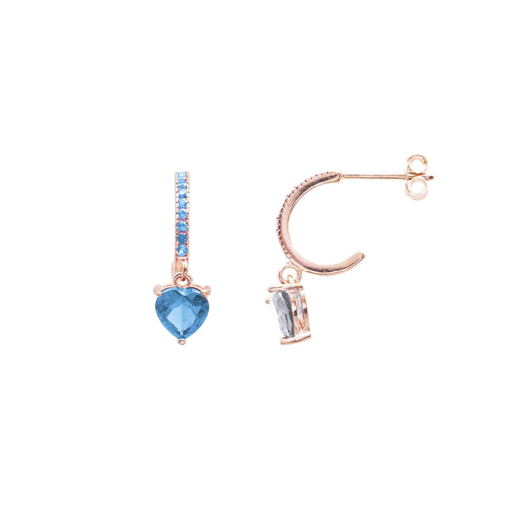 Alyx orecchini in argento 925‰ rosato e zirconi E12051PA For You Jewels