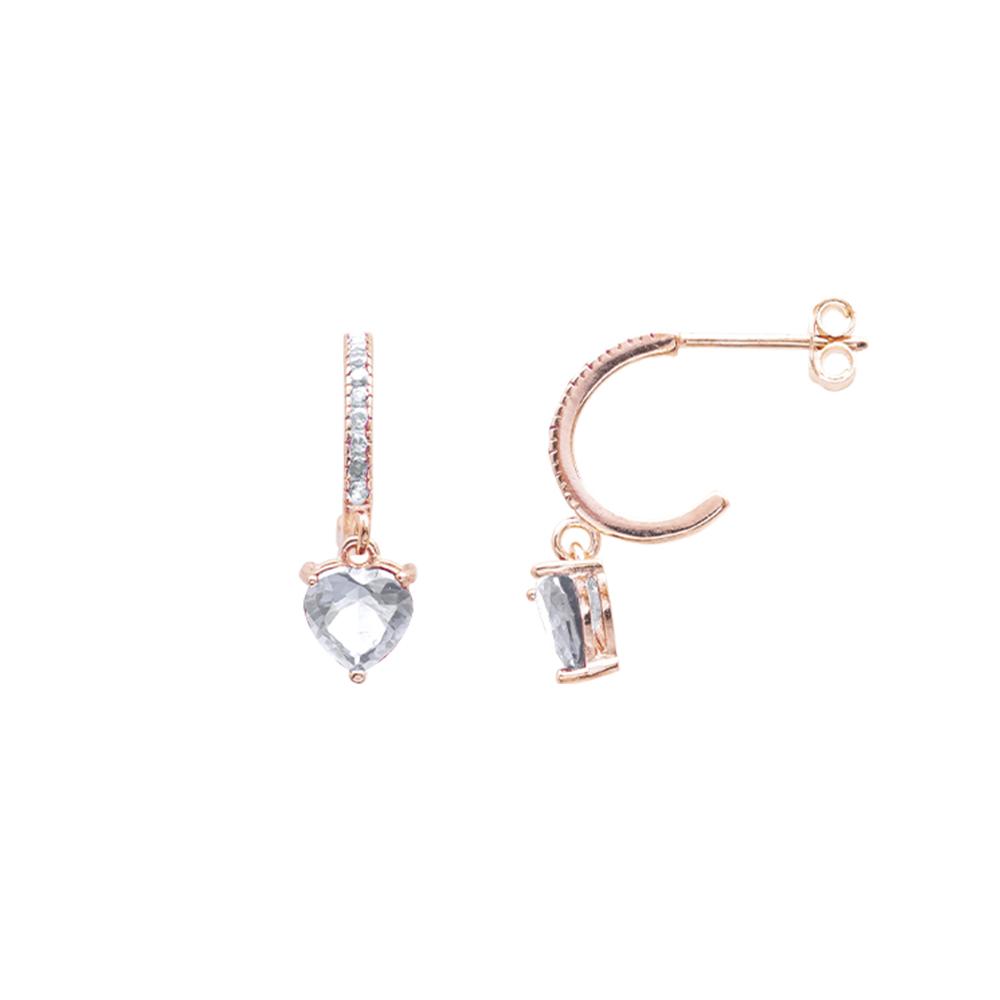 Alyx orecchini in argento 925‰ rosato e zirconi E12051PP For You Jewels