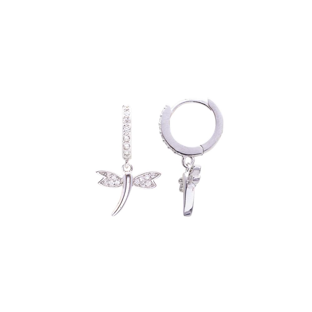 Audie orecchini in argento 925‰ rodiato e zirconi E14247 For You Jewels