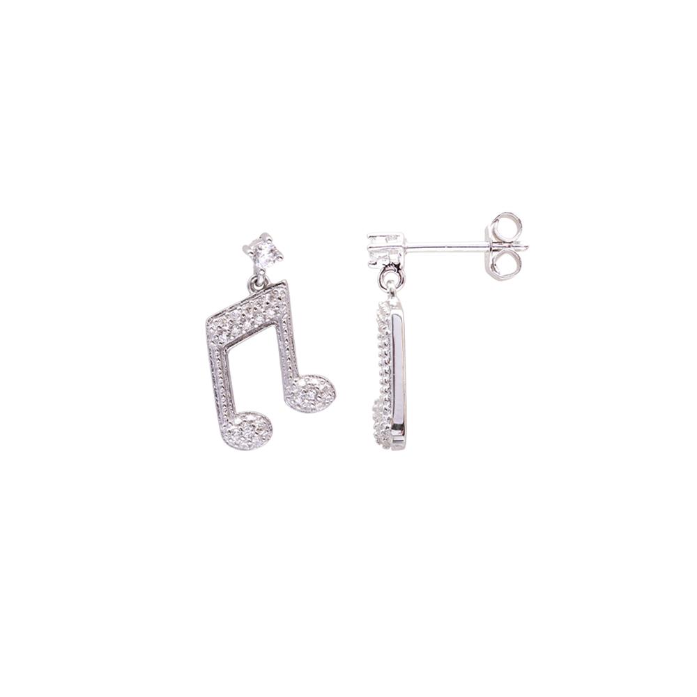 Bethany orecchini in argento 925‰ rodiato e zirconi E04119 For You Jewels