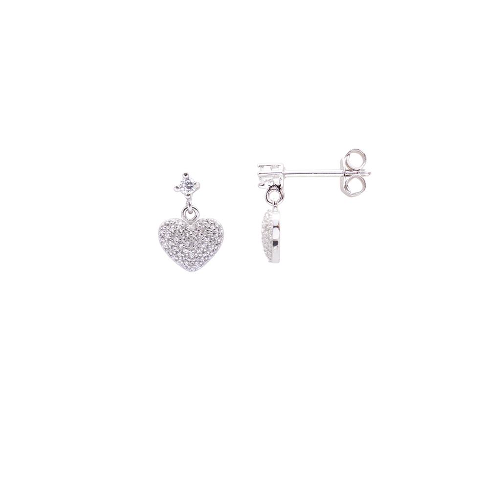 Bethany orecchini in argento 925‰ rodiato e zirconi E06026 For You Jewels