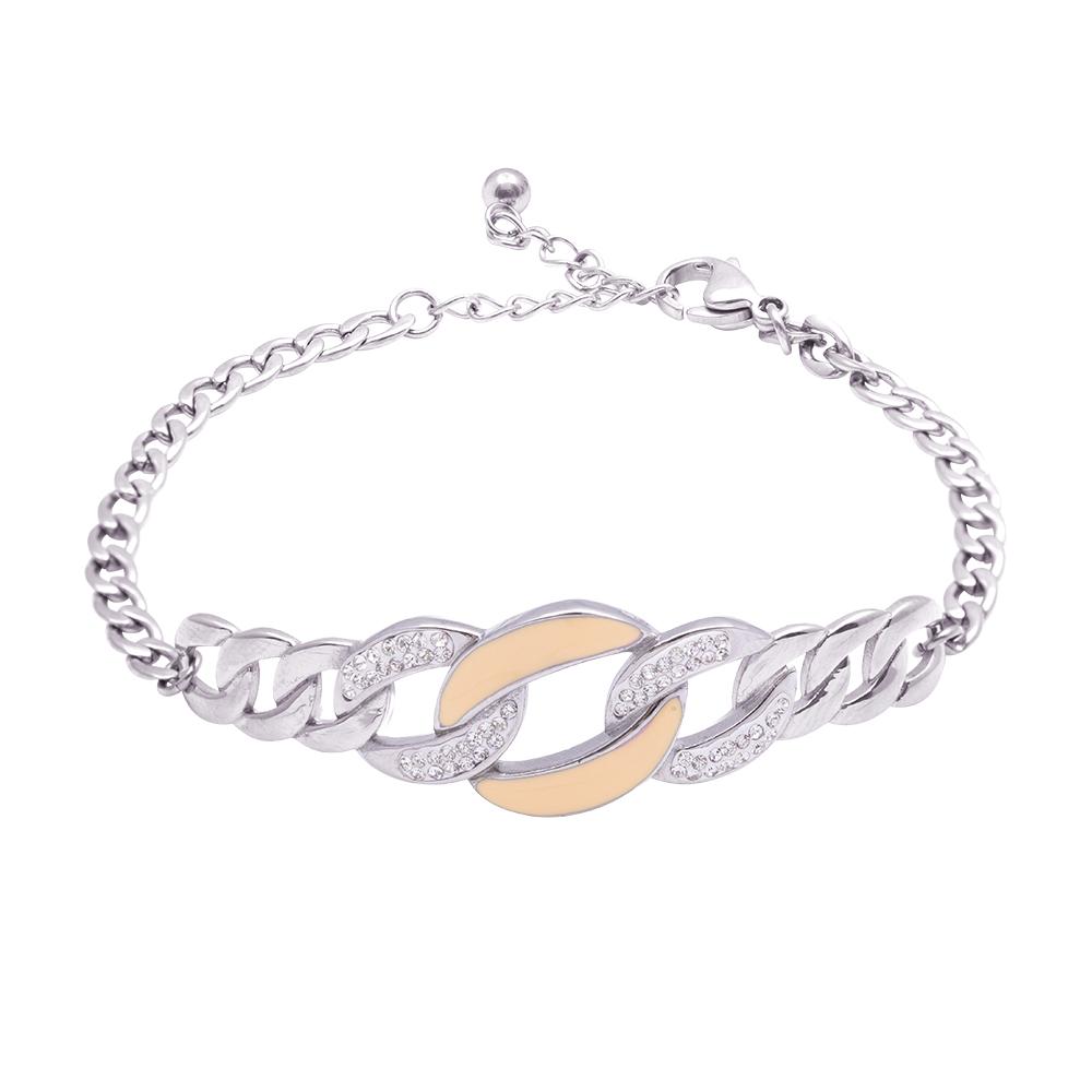 Claudine bracciale in acciaio e cristalli B16062 For You Jewels