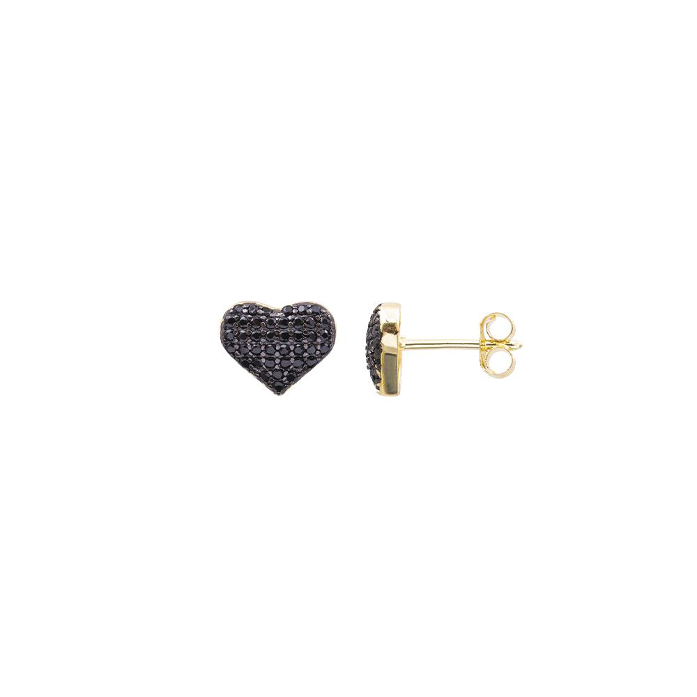 Cleo orecchini in argento 925‰ dorato e zirconi E08599KG For You Jewels