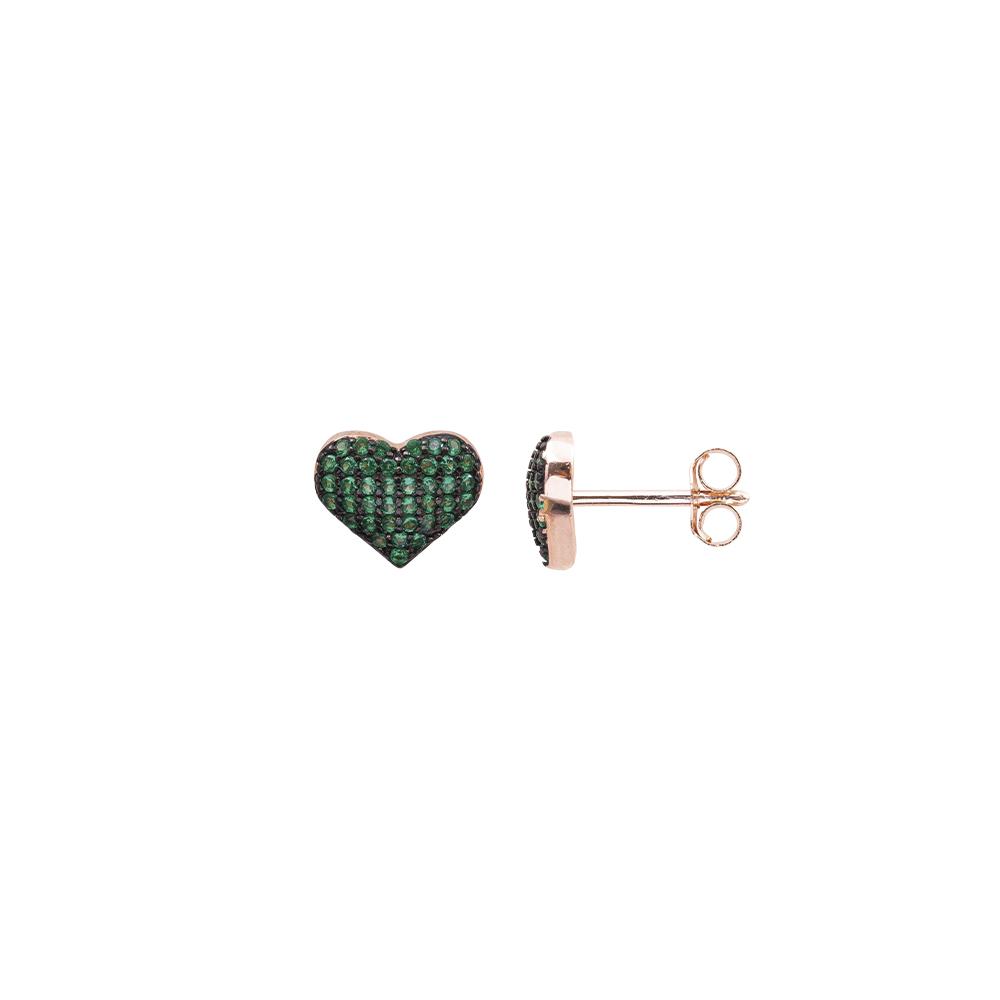 Cleo orecchini in argento 925‰ rosato e zirconi E08599PE For You Jewels