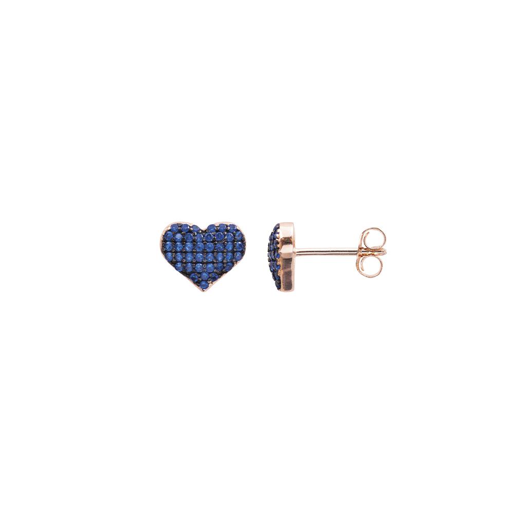 Cleo orecchini in argento 925‰ rosato e zirconi E08599PS For You Jewels
