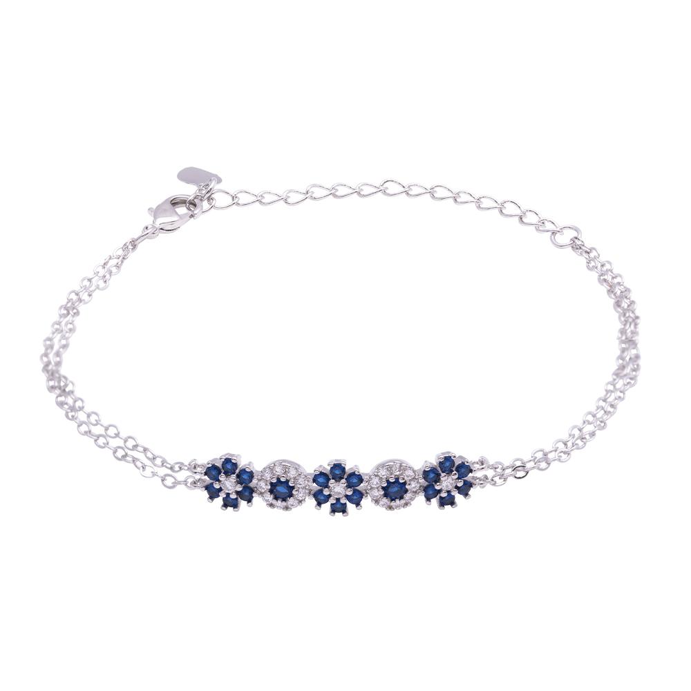 Flowers Fantasy bracciale in ottone rodiato e zirconi B15945 For You Jewels