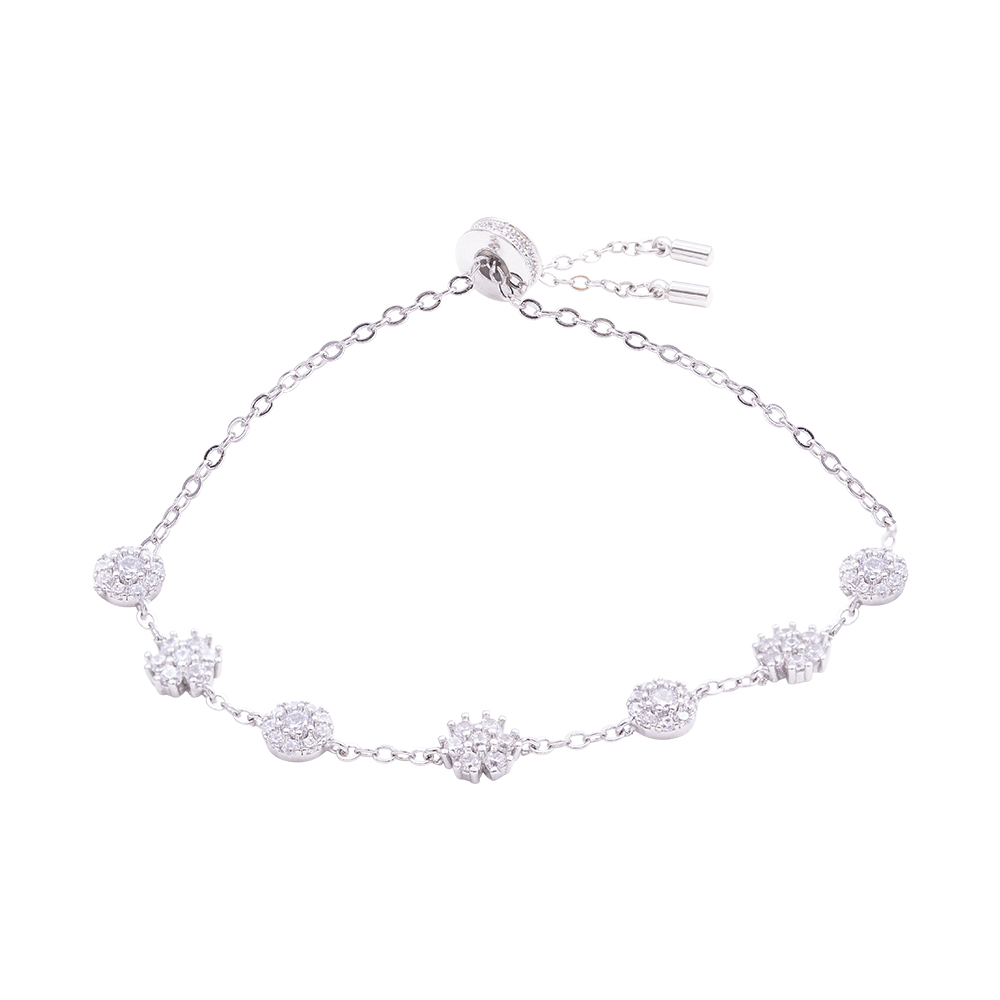 Flowers Fantasy bracciale in ottone rodiato e zirconi B15947 For You Jewels