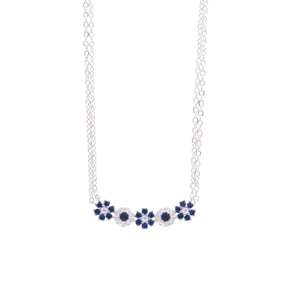 Flowers Fantasy collana in ottone rodiato e zirconi N15945 For You Jewels