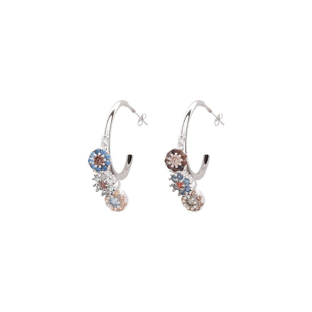 Flowers Fantasy orecchini in ottone rodiato e zirconi E15950 For You Jewels