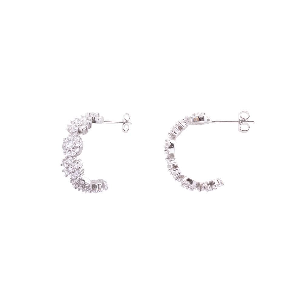 Flowers Fantasy orecchini in ottone rodiato e zirconi E15956 For You Jewels