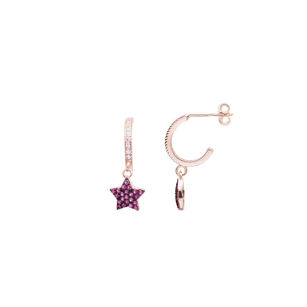 Glenna orecchini in argento 925‰ rosato e zirconi E08901PR For You Jewels
