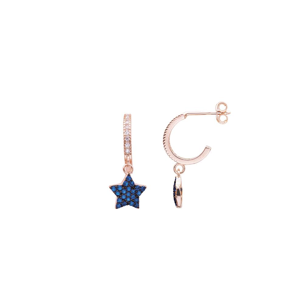 Glenna orecchini in argento 925‰ rosato e zirconi E08901PS For You Jewels
