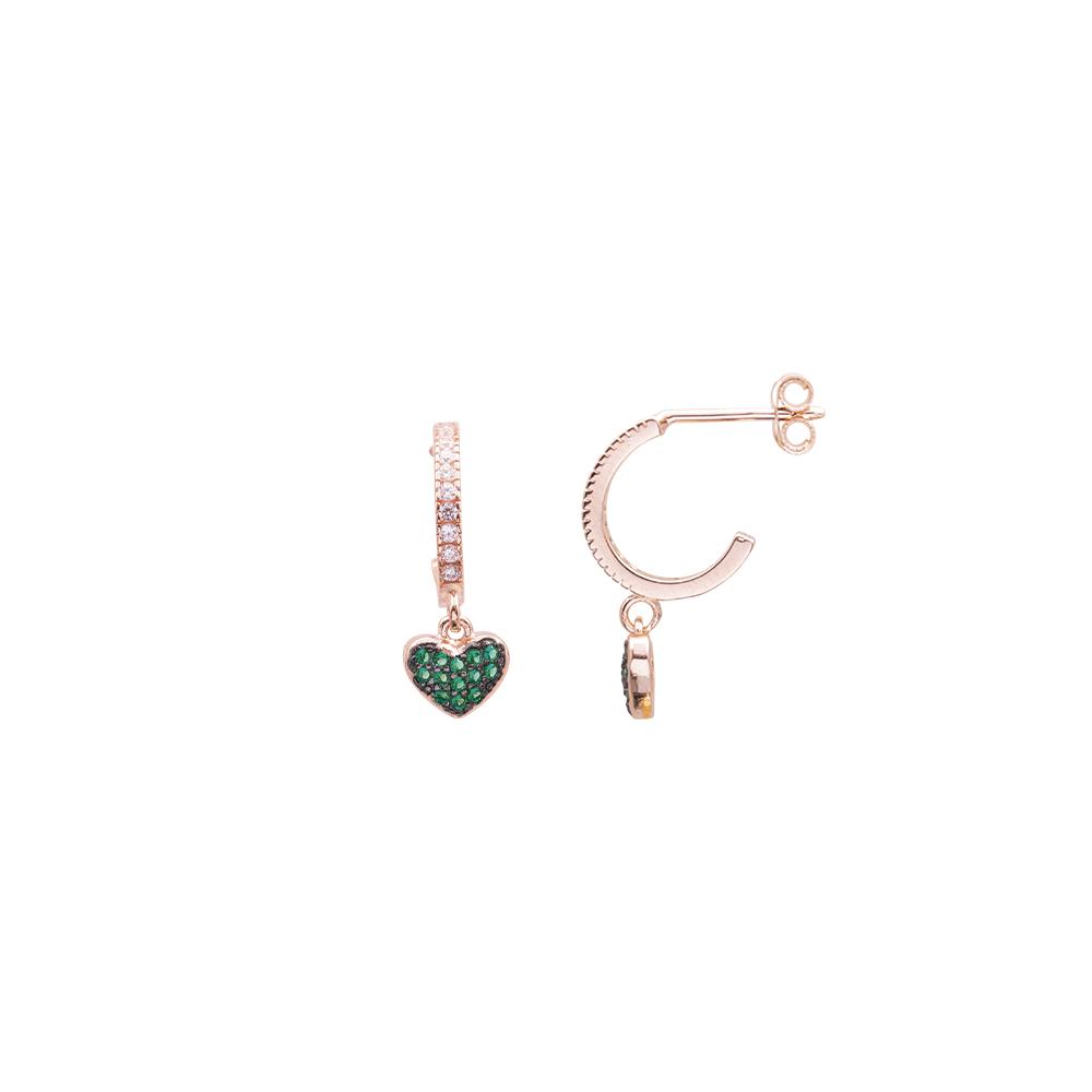 Glenna orecchini in argento 925‰ rosato e zirconi E08905PE For You Jewels