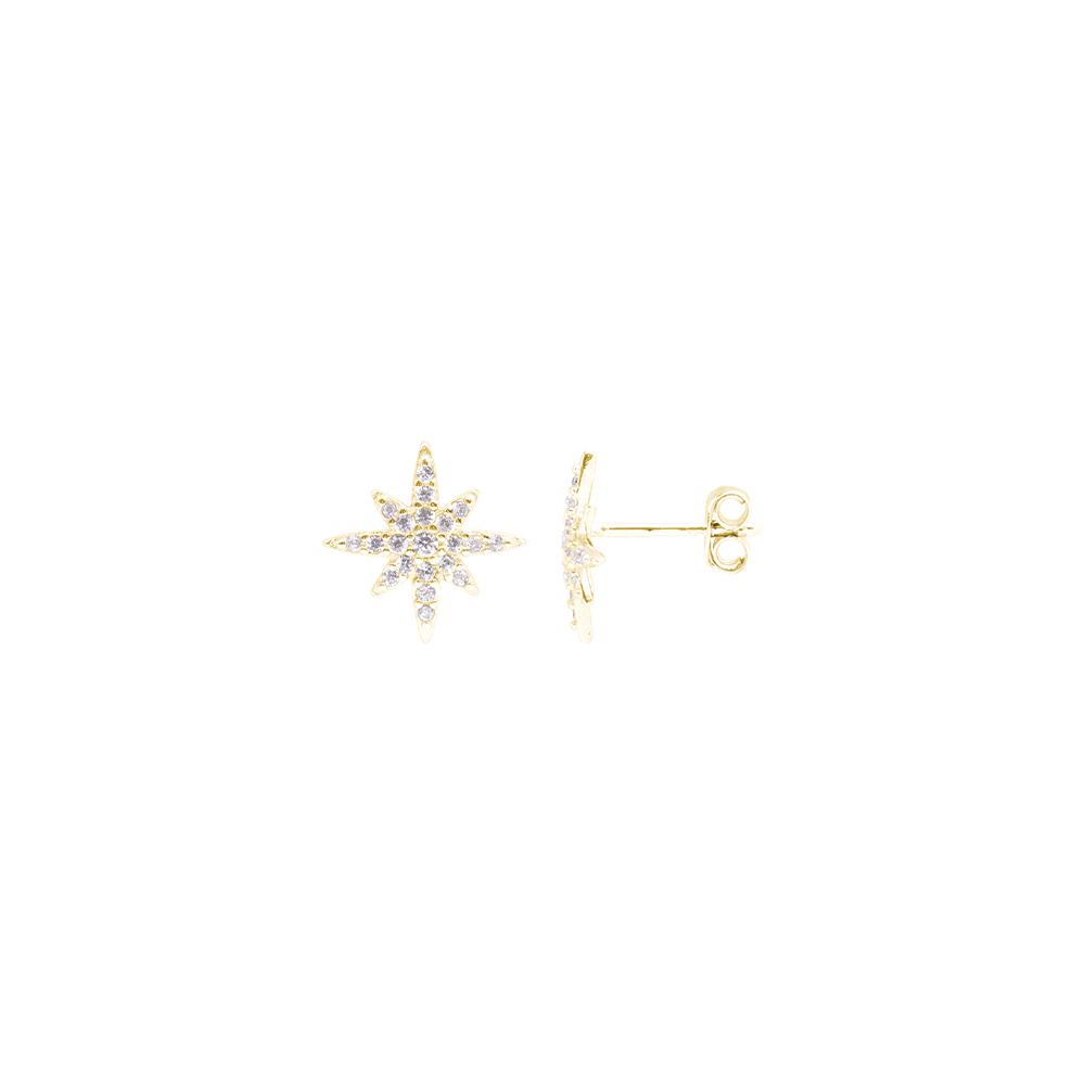 Hollie orecchini in argento 925‰ dorato e zirconi E15590GP For You Jewels