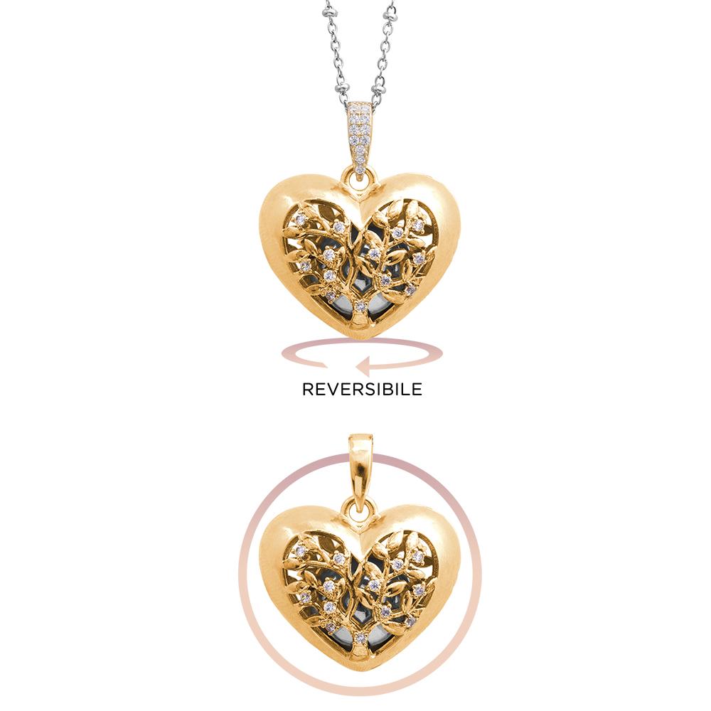 Lifesound lieto evento collana chiama angeli albero della vita in ottone e zirconi P15990 For You Jewels