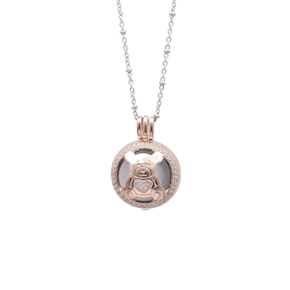 Lifesound lieto evento collana chiama angeli orsetto in ottone e zirconi P15999 For You Jewels