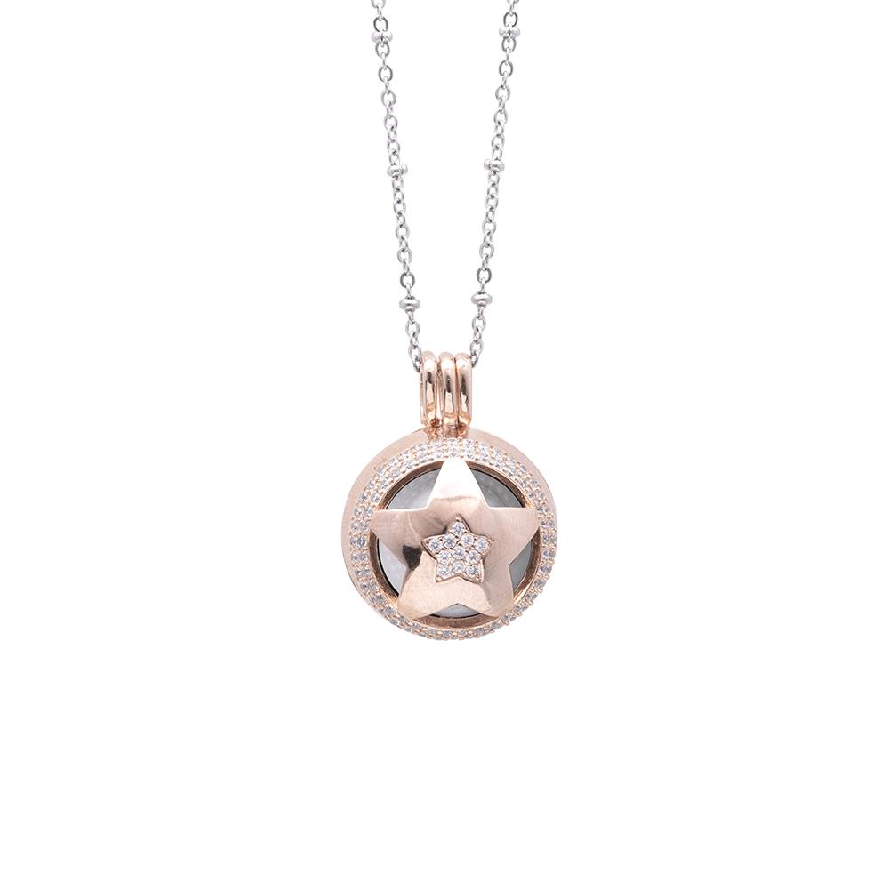 Lifesound lieto evento collana chiama angeli stella in ottone e zirconi P15997 For You Jewels
