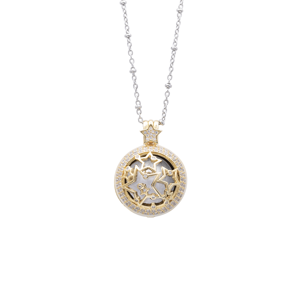 Lifesound lieto evento collana chiama angeli stelle in ottone e zirconi P15993 For You Jewels