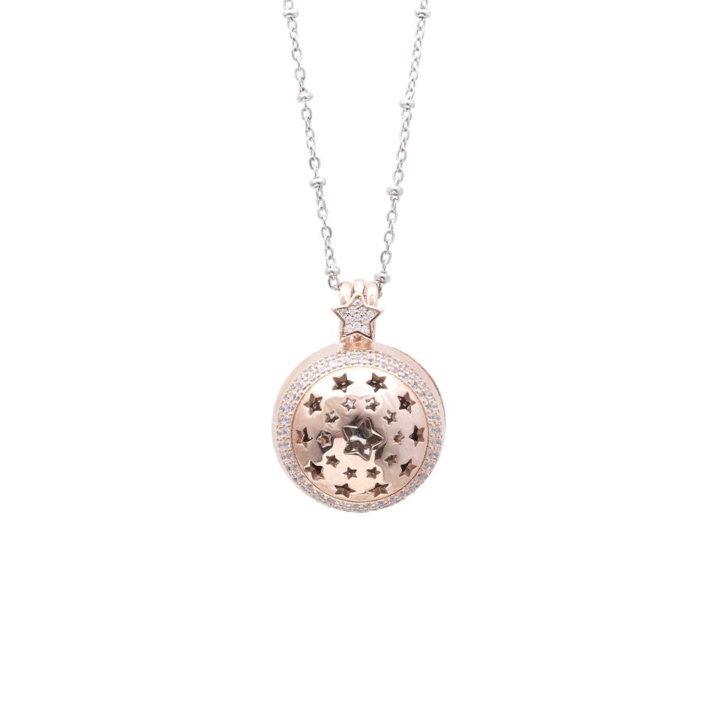 Lifesound lieto evento collana chiama angeli stelle in ottone e zirconi P15994 For You Jewels