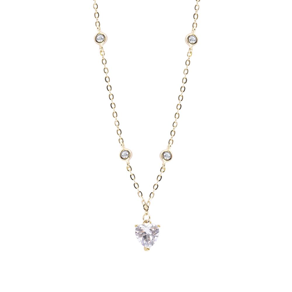 Ludmilla collana in argento 925‰ dorato e zirconi N15502GP For You Jewels