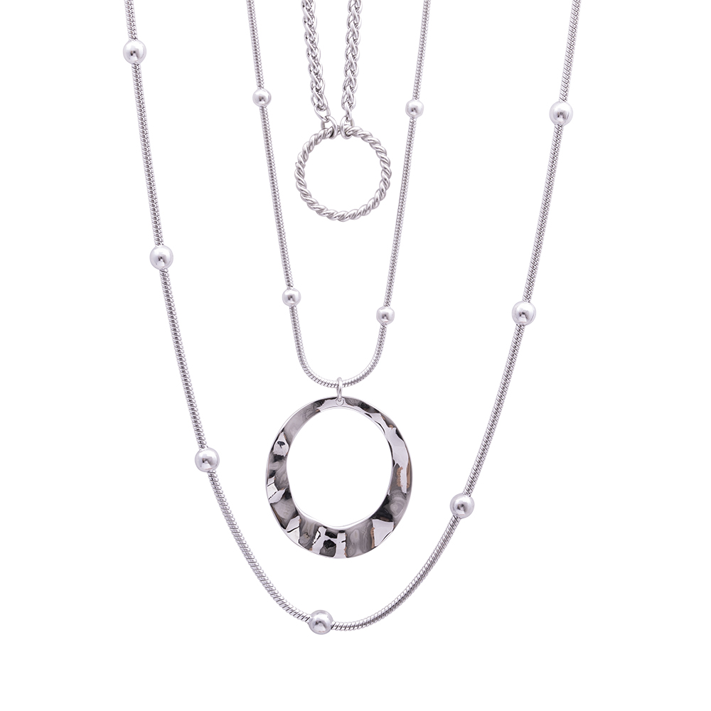 Marla collana in acciaio e perle N16106 For You Jewels