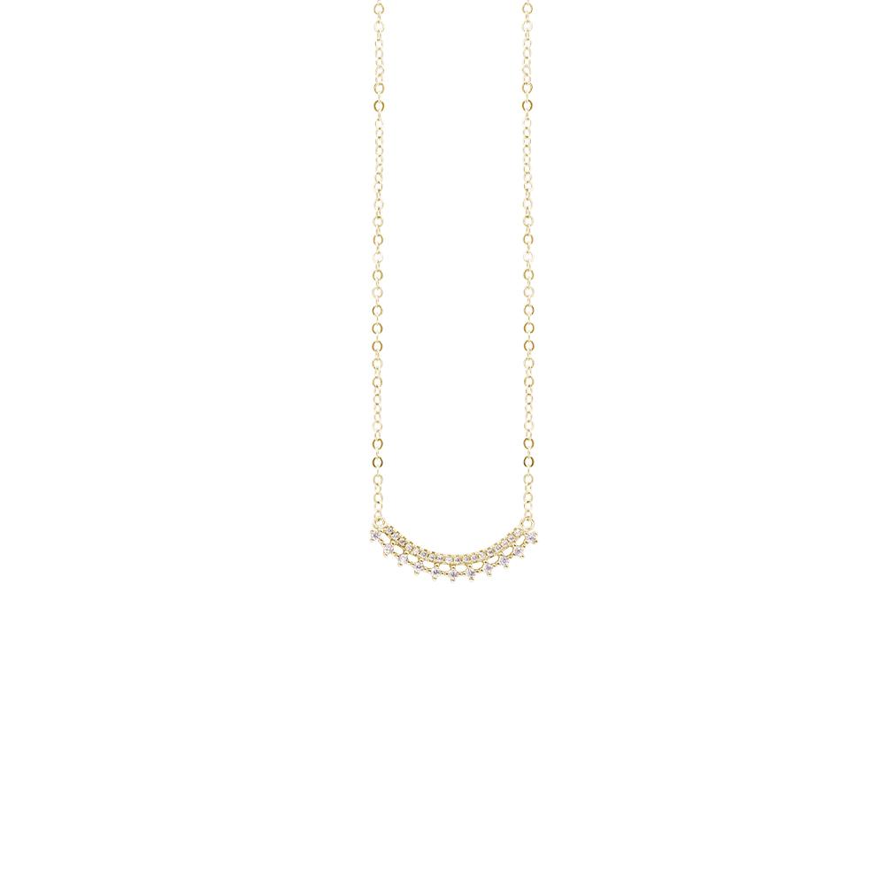 Micol collana in ottone dorato e zirconi N07912GP For You Jewels
