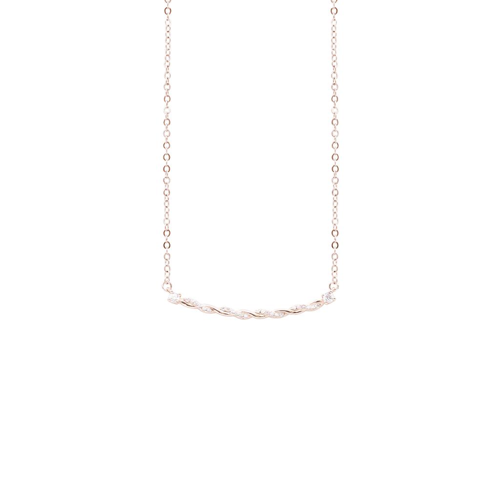 Micol collana in ottone rosato e zirconi N07913PP For You Jewels