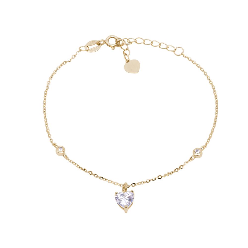 Nikki bracciale in argento 925‰ dorato e zirconi B15502GP For You Jewels