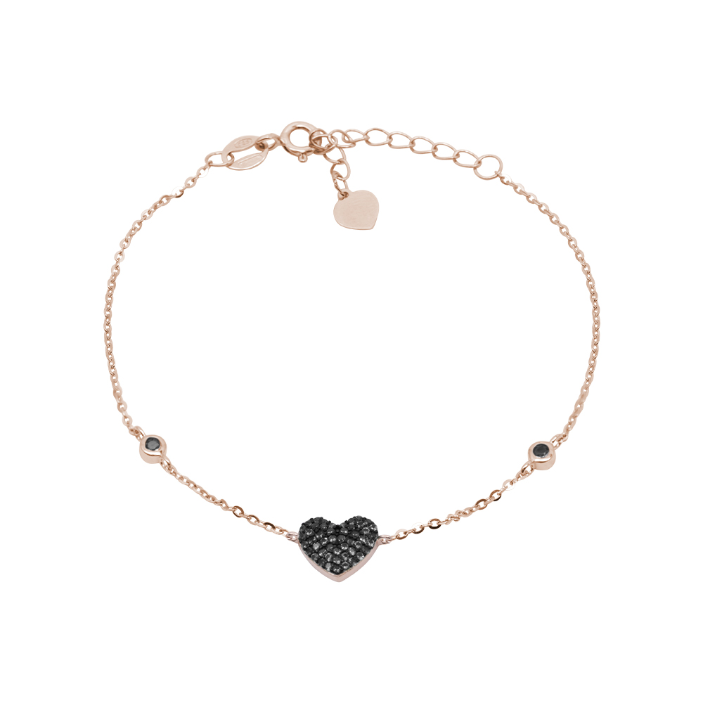 Noreen bracciale in argento 925‰ rosato e zirconi B08607PB For You Jewels