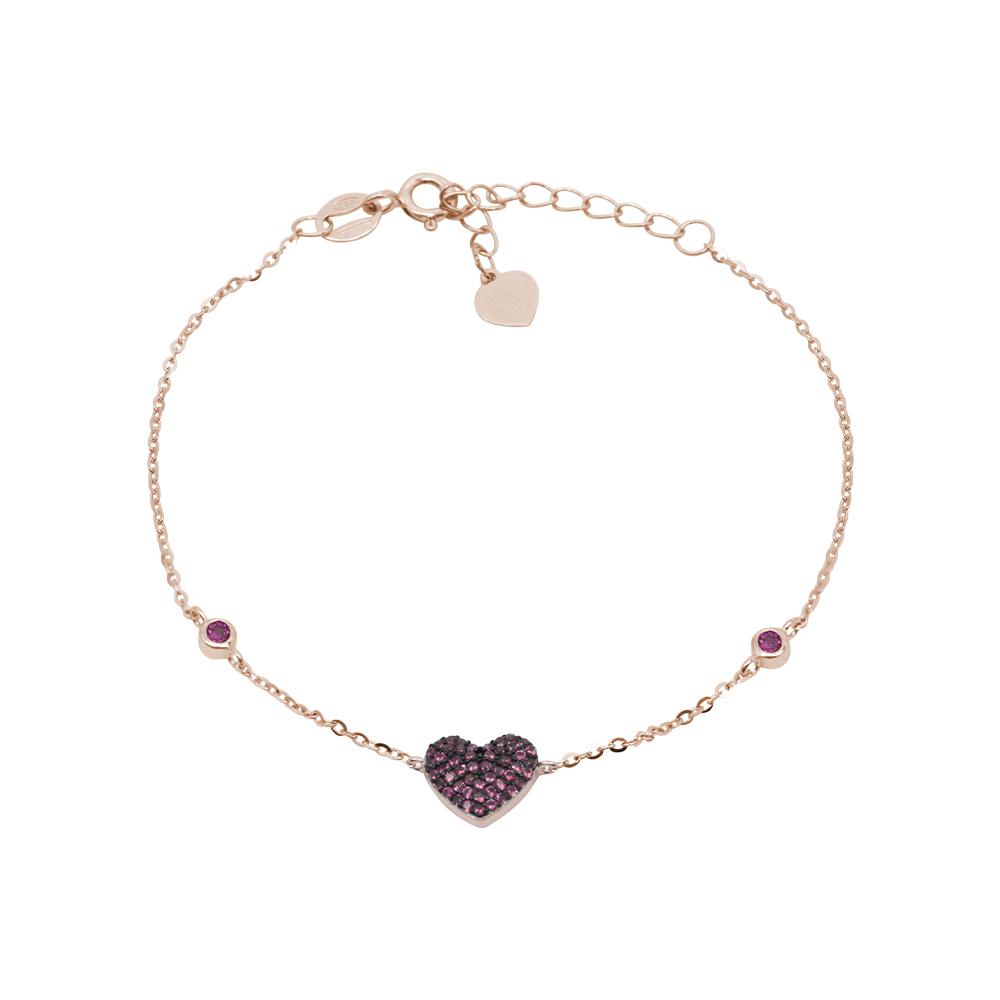 Noreen bracciale in argento 925‰ rosato e zirconi B08607PR For You Jewels