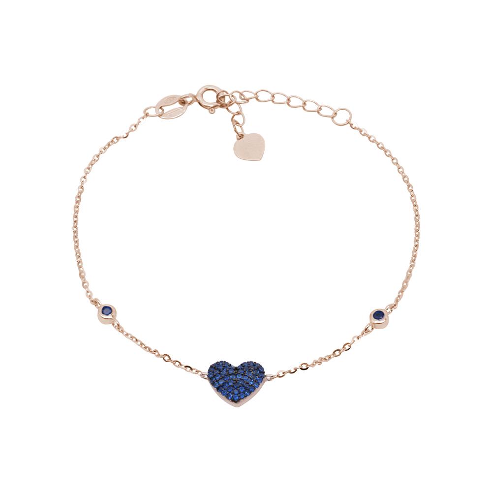 Noreen bracciale in argento 925‰ rosato e zirconi B08607PS For You Jewels