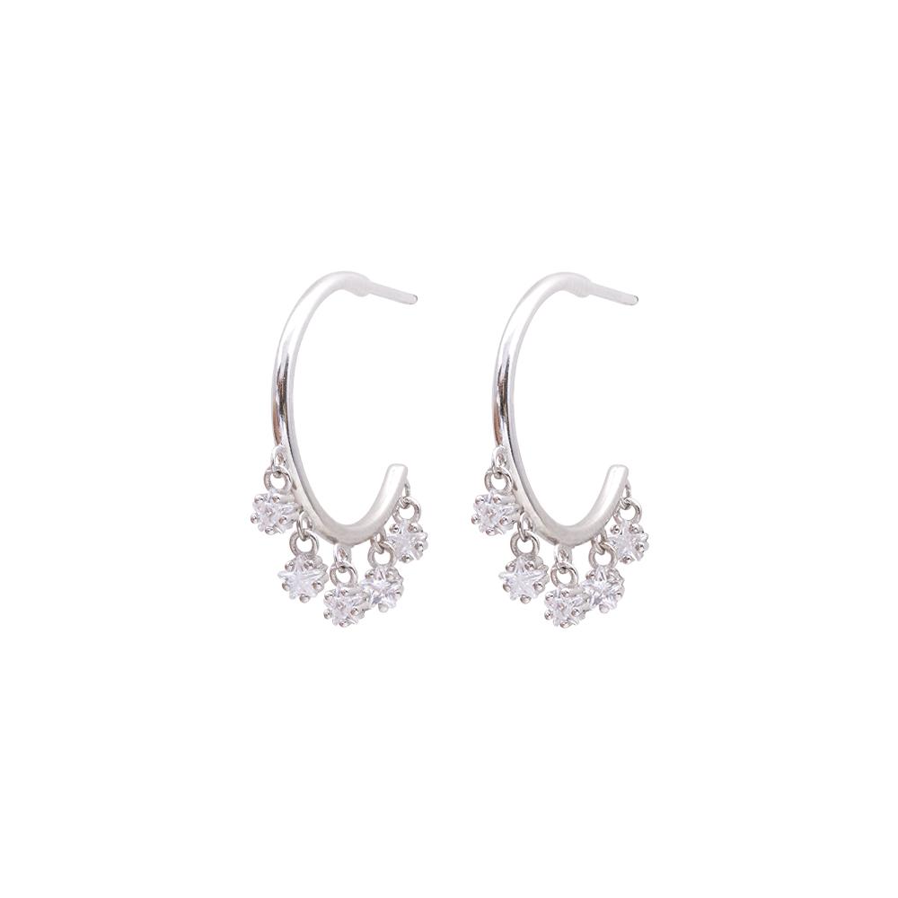 Tecla orecchini in ottone rodiato e zirconi E15464 For You Jewels