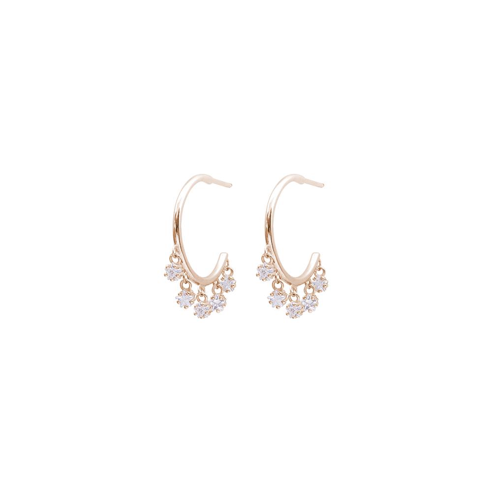 Tecla orecchini in ottone rosato e zirconi E15461PP For You Jewels